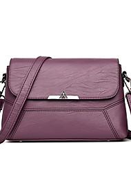Χαμηλού Κόστους -Γυναικεία Τσάντες PU Τσάντα ώμου Φερμουάρ Βυσσινί / Σκούρο γκρι / Κρασί