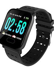 abordables -A6 Reloj elegante Android iOS Bluetooth Smart Deportes Impermeable Monitor de Pulso Cardiaco Podómetro Seguimiento del Sueño Recordatorio sedentaria Cronógrafo Calendario