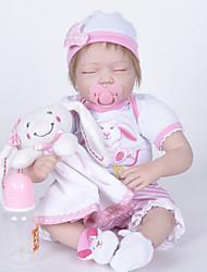 Недорогие -FeelWind Куклы реборн Кукла для девочек Девочки 22 дюймовый Силикон Винил - как живой Ручная Pабота Очаровательный Дети / подростки Нетоксично Детские Универсальные Игрушки Подарок