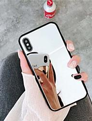 Недорогие -Кейс для Назначение Apple iPhone XS / iPhone XR / iPhone XS Max Зеркальная поверхность Кейс на заднюю панель Однотонный Твердый Акрил