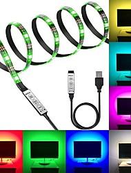Недорогие -KWB 5V RGB полосы света 180 светодиодов 5050 SMD 3 м светодиодные полосы света 3-клавишный пульт дистанционного управления RGB ТВ фоновый свет