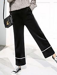 זול -בגדי ריקוד נשים סגנון רחוב צ'ינו מכנסיים אחיד / פסים