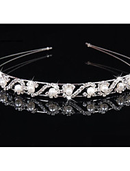 economico -Lega Cerchietti con Perle di imitazione / Crystal / Rhinestone 1 pezzo Matrimonio Copricapo