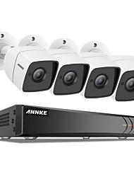 Недорогие -камеры видеонаблюдения annke® 8ch 5mp HD 4шт системы видеонаблюдения без жесткого диска