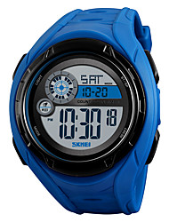 Недорогие -SKMEI Муж. Спортивные часы Армейские часы электронные часы Цифровой силиконовый Черный / Синий / Зеленый 50 m Будильник Календарь Секундомер Цифровой На каждый день Мода - Черный Зеленый Синий
