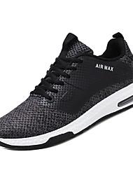 abordables -Hombre Zapatos Confort Tela Elástica / Tissage Volant Invierno Deportivo Zapatillas de Atletismo Running Antideslizante Bloques Negro / Gris / Azul