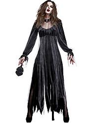 povoljno -vještica Haljine Povorka maski Žene Filmski Cosplay Crn Haljina Halloween Karneval Maškare Til Polyster