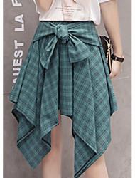 Недорогие -женские юбки выше колена - плед