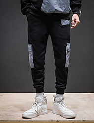זול -בגדי ריקוד גברים סגנון רחוב צ'ינו מכנסיים קולור בלוק