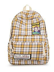 저렴한 -여성용 가방 옥스퍼드 책가방 지퍼 용 학교 봄 블러슁 핑크 / 옐로우 / 다크 그린