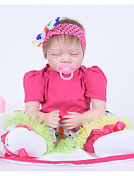 cheap -FeelWind Reborn Doll Girl Doll Baby Girl 22 inch Silicone Vinyl - lifelike Handmade Cute Kids / Teen Non-toxic Kid's Unisex Toy Gift