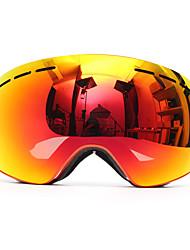 levne -Unisex Motocyklové brýle Sportovní Ventilace / Proti zamlžování / Protiskluzový povrch PC / mikrovlákno houba