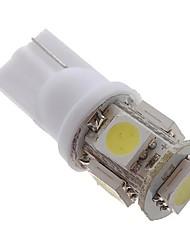 זול -5pcs T10 מכונית נורות תאורה SMD 5050 5 LED תאורת איתות / אור אחורי / אורות בלימה עבור אוניברסלי / Volkswagen / Toyota גנרל מוטורס כל השנים