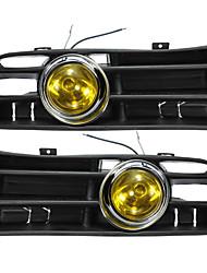 Недорогие -желтая передняя противотуманная фара светодиодная лампа нижняя решетка для 98-04 vw golf mk4