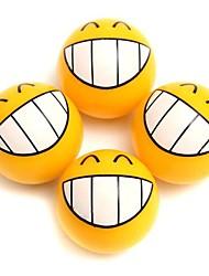 Недорогие -4 шт улыбка выражение лица автомобильные шины шины пыли стержень воздушного клапана