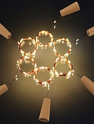 abordables -2m Guirlandes Lumineuses 20 LED SMD 0603 Blanc Chaud / Blanc / Rouge Créatif / Découpable / Soirée 3 V 6pcs