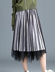 Χαμηλού Κόστους -Γυναικεία Γραμμή Α Βασικό Φούστες - Μονόχρωμο