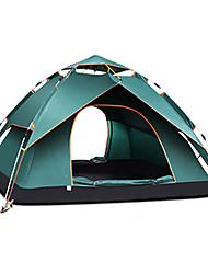 Недорогие -TANXIANZHE® 4 человека Автоматический тент На открытом воздухе С защитой от ветра Дожденепроницаемый Воздухопроницаемость Двухслойные зонты Автоматический Палатка 2000-3000 mm для