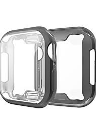 Недорогие -Кейс для Назначение Apple Apple Watch Series 4 / Apple Watch Series 4/3/2/1 / Apple Watch Series 3 Силикон Apple