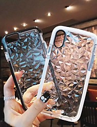 Недорогие -Кейс для Назначение Apple iPhone XS / iPhone XR / iPhone XS Max Защита от удара Кейс на заднюю панель Однотонный Мягкий ТПУ