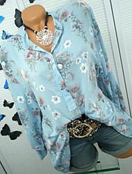 저렴한 -여성용 기하학 셔츠, 베이직