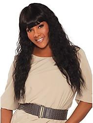 preiswerte -Cabello Natural Remy Spitzenfront Perücke Brasilianisches Haar Wogende Wellen Schwarz Perücke 180% Haardichte Geruchsfrei Sanft Damen Beste Qualität Dick Schwarz Damen Mittellang Echthaar Perücken