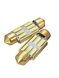 Недорогие -36 мм белый 6 smd номерной знак интерьер из светодиодов лампа для чтения гирлянда лампы без ошибок