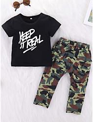 זול -סט של בגדים שרוולים קצרים אחיד בנים תִינוֹק
