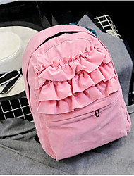 povoljno -Žene Torbe Poliester ruksak Patent-zatvarač Blushing Pink / Sive boje / Bijela