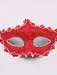Недорогие -Косплей Венецианская маска / Половинная маска Взрослые Хэллоуин Жен. Синий / Розовый / Цвет фуксии Пластик Для вечеринок Косплэй аксессуары Хэллоуин / Карнавал / Маскарад костюмы / Мужской