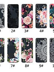 Недорогие -Кейс для Назначение Huawei Huawei P20 / Huawei P20 Pro / Huawei P20 lite Прозрачный / С узором Кейс на заднюю панель Кружева Печать / Цветы Мягкий ТПУ / P10 Lite / P10