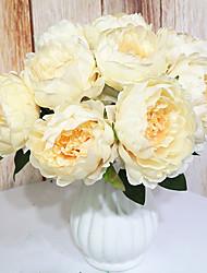 voordelige -Kunstbloemen 9 Tak Klassiek Klassiek Europees Pioenen Bloemen voor op tafel