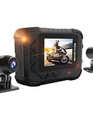Недорогие -Factory OEM DV688 1080p HD / Двойной объектив Автомобильный видеорегистратор 120° / 130 градусов Широкий угол 2.0 Мп КМОП 2.33 дюймовый LCD Капюшон с GPS / G-Sensor / Циклическая запись