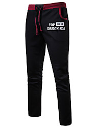 זול -בגדי ריקוד גברים פעיל / בסיסי צ'ינו / מכנסי טרנינג מכנסיים אחיד