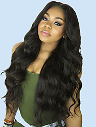 cheap -Unprocessed Human Hair 360 Frontal Lace Front Wig Deep Parting style Brazilian Hair Body Wave Wig 130% 150% 180% Density with Baby Hair Adjustable Heat Resistant Best Quality Thick Natural Women's