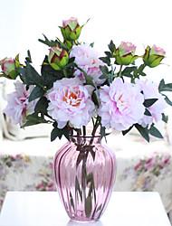Недорогие -Искусственные Цветы 1 Филиал Классический Для вечеринки Свадьба Пионы Вечные цветы Букеты на стол