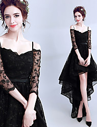 cheap -Black Swan Dress Women's Movie Cosplay Black Dress Halloween Carnival Masquerade Lace Cotton Embroidery / Wasp-Waisted