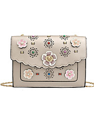 Χαμηλού Κόστους -Γυναικεία Τσάντες PU Τσάντα ώμου Φλοράλ Ασημί / Ρουμπίνι / Ανθισμένο Ροζ