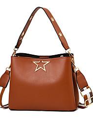 preiswerte -Damen Taschen PU Umhängetasche Reißverschluss Volltonfarbe Purpur / Dunkelgrün / Kamel