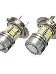 Недорогие -пара 12v h7 499 6000k smd светодиодный дневной свет проектор фары противотуманные фары белый