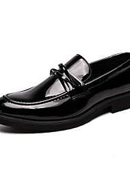 cheap -Men's Comfort Shoes Faux Leather Fall Loafers & Slip-Ons Black