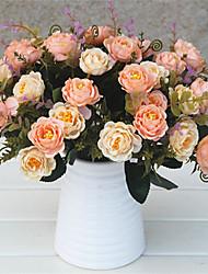 levne -Umělé květiny 5 Větev Klasické Evropský Pastýřský Styl Camellia Květina na stůl