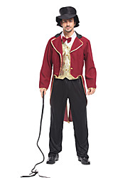 זול -המופע הגדול תלבושות בגדי ריקוד גברים תחפושות משחק של דמויות מסרטים אדום מעיל עליון מכנסיים האלווין (ליל כל הקדושים) קרנבל נשף מסכות אלאסטייןו polyster