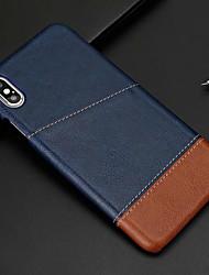 Недорогие -Кейс для Назначение Apple iPhone XS / iPhone XR / iPhone XS Max Бумажник для карт Кейс на заднюю панель Однотонный Твердый Кожа PU