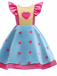 Χαμηλού Κόστους -Παιδιά Κοριτσίστικα Βασικό Καθημερινά Πουά Αμάνικο Βαμβάκι / Πολυεστέρας Φόρεμα Θαλασσί