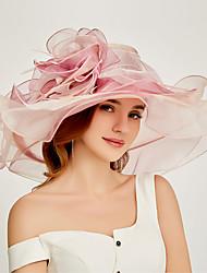 Недорогие -органза Кентукки дерби шляпа / Fascinators / Аксессуары для волос с Несколько слоев 1 шт. Вечеринка / ужин / Работа / Свадьба Заставка