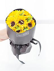 Недорогие -Искусственные Цветы 1 Филиал Классический Свадебные цветы Пастораль Стиль Подсолнухи Букеты на стол