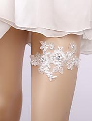 ราคาถูก -ลูกไม้ การแต่งงาน Wedding Garter กับ เข็มกลัด / คริสตัล / พลอยเทียมต่างๆ สายรัด งานแต่งงาน / ปาร์ตี้