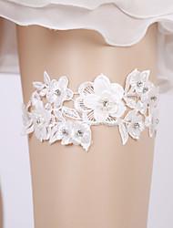 ราคาถูก -ลูกไม้ ความรัก / เกี่ยวกับเจ้าสาว Wedding Garter กับ มุก / ดอกไม้ สายรัด งานแต่งงาน / ปาร์ตี้