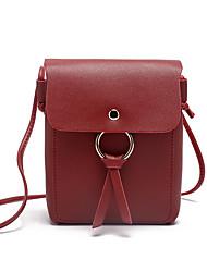 Χαμηλού Κόστους -Γυναικεία Τσάντες PU Κινητό τηλέφωνο τσάντα Συμπαγές Χρώμα Ανθισμένο Ροζ / Γκρίζο / Καφέ